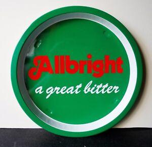 Allbright-Bitter-Vintage-1970-039-s-Advertising-Pub-Bar-Beer-drinks-tray-Retro