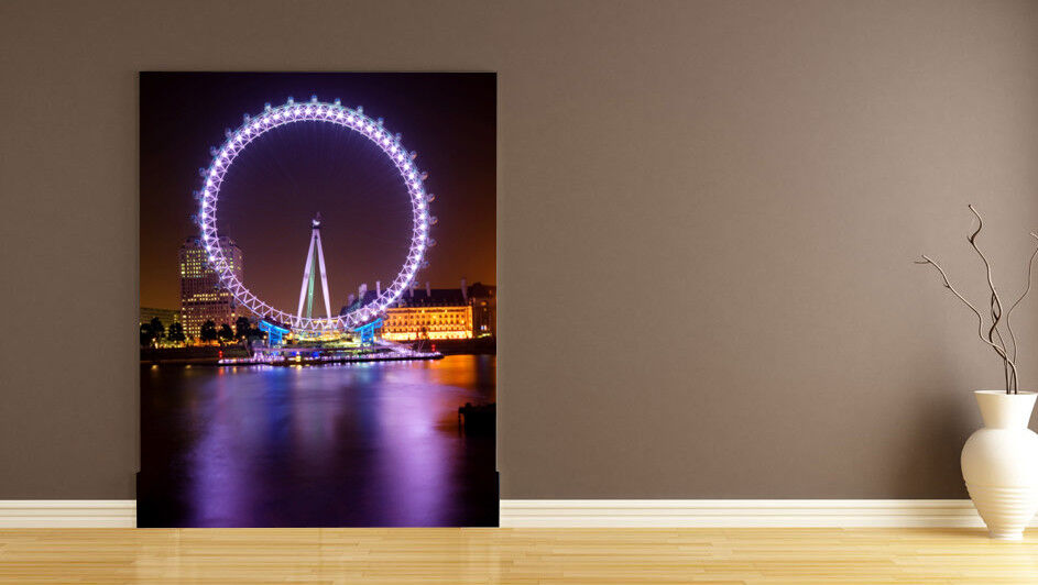3D  Riesenrad Lila Licht 84 Tapete Wandgemälde Tapete Tapeten Bild Familie DE | Die erste Reihe von umfassenden Spezifikationen für Kunden  | Ausgezeichnete Leistung  | Starke Hitze- und Hitzebeständigkeit