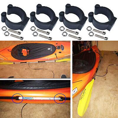 Well Nuts Screws Fastener Black u 2PCS For Kayak Boat Canoe Paddle Clip Holder