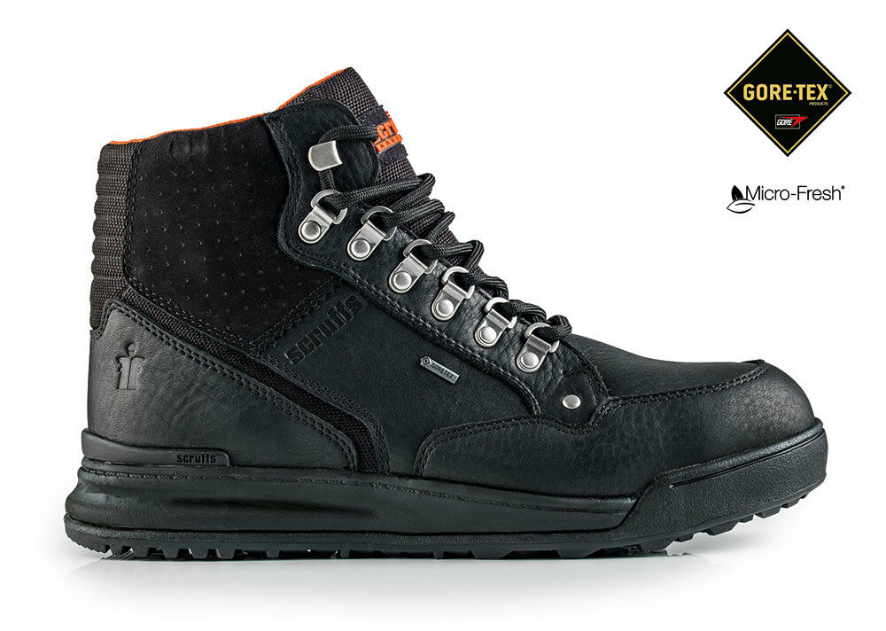Scruffs GRIND GTX Waterproof GORE-TEX Boots Black Men's S3 Safety Work Boots