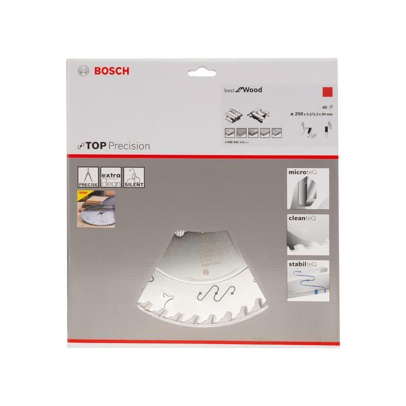 Bosch HM Sägeblatt Beste for Wood 250x30x3,2 mm, Z=40 WZ