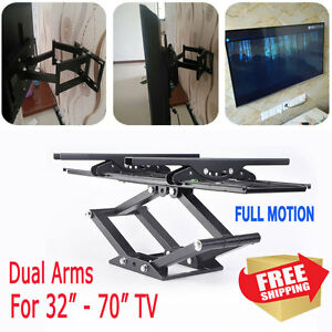 Full Motion TV Wall Mount 32 39 40 42 50 55 60 65 70 for Samsung Vizio LG Sony @