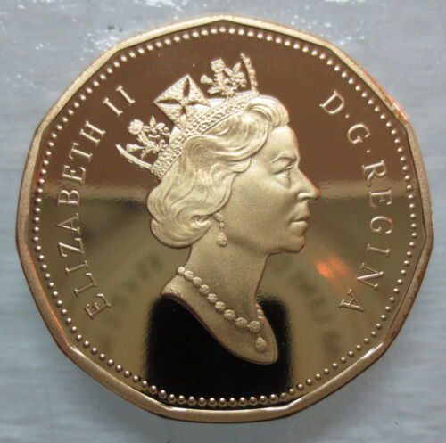 1990 CANADA LOONIE PROOF ONE DOLLAR HEAVY CAMEO COIN