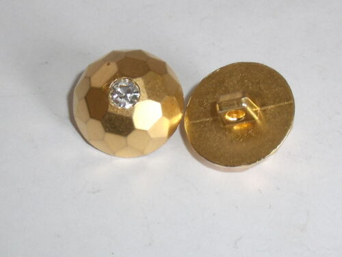 8 pièces Boutons Bouton ösenknopf avec strass 18 mm or article neuf #315.2#