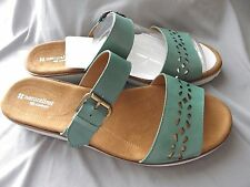 ~~~Naturalizer Womens Leather Sandals Daria Turquoise Lea Size ..12W. NIB ~~~