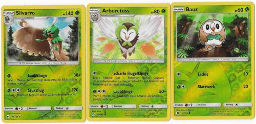 3er Set-silvarro bauz 11,10,9//149-Reverse Holo-SOLEIL /& LUNE arboretoss
