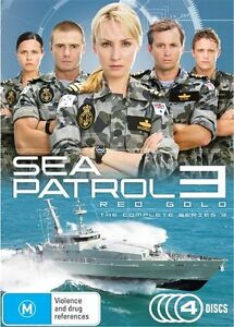 Sea-Patrol-Red-Gold-Season-3-Three-Third-Series-4-Disc-Set-DVD-FREE-POST