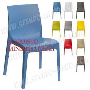 Sedie In Resina Colorate.Sedia In Plastica Colorata Resina Opaca Polipropilene Sedia Da
