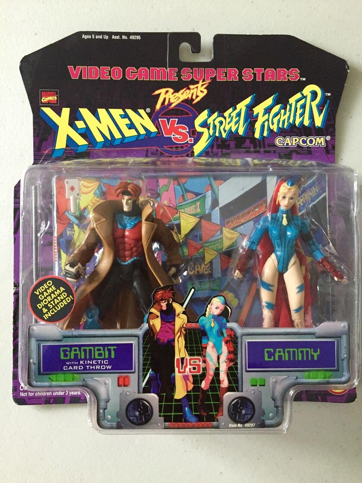 Xessi vs Street combatiente GAMBIT vs CAMMY giocattolo Biz Video gioco Super estrellas 1998