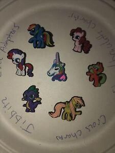 My-Little-Pony-Lot-Of-7-Crocs-Shoe-Bracelet-Lace-Adapter-Charms-Jibbitz-Any-sz