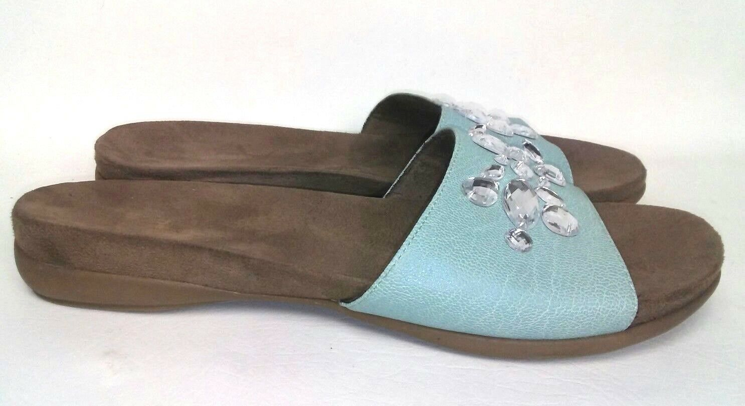 NATURAL Jeweled SOUL by Naturalizer Arial Sz 10 M Blue Jeweled NATURAL Slides Slip On Sandals b3072a
