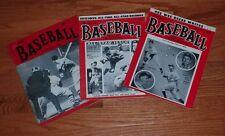 Lot of (3) Diff Original Baseball Magazines: Feb 1949, Spring 1953,  Aug 1953
