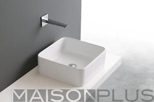 Kuadro lavabo d 39 appoggio cm 40 altezza cm 15 ceramica for Altezza lavabo appoggio