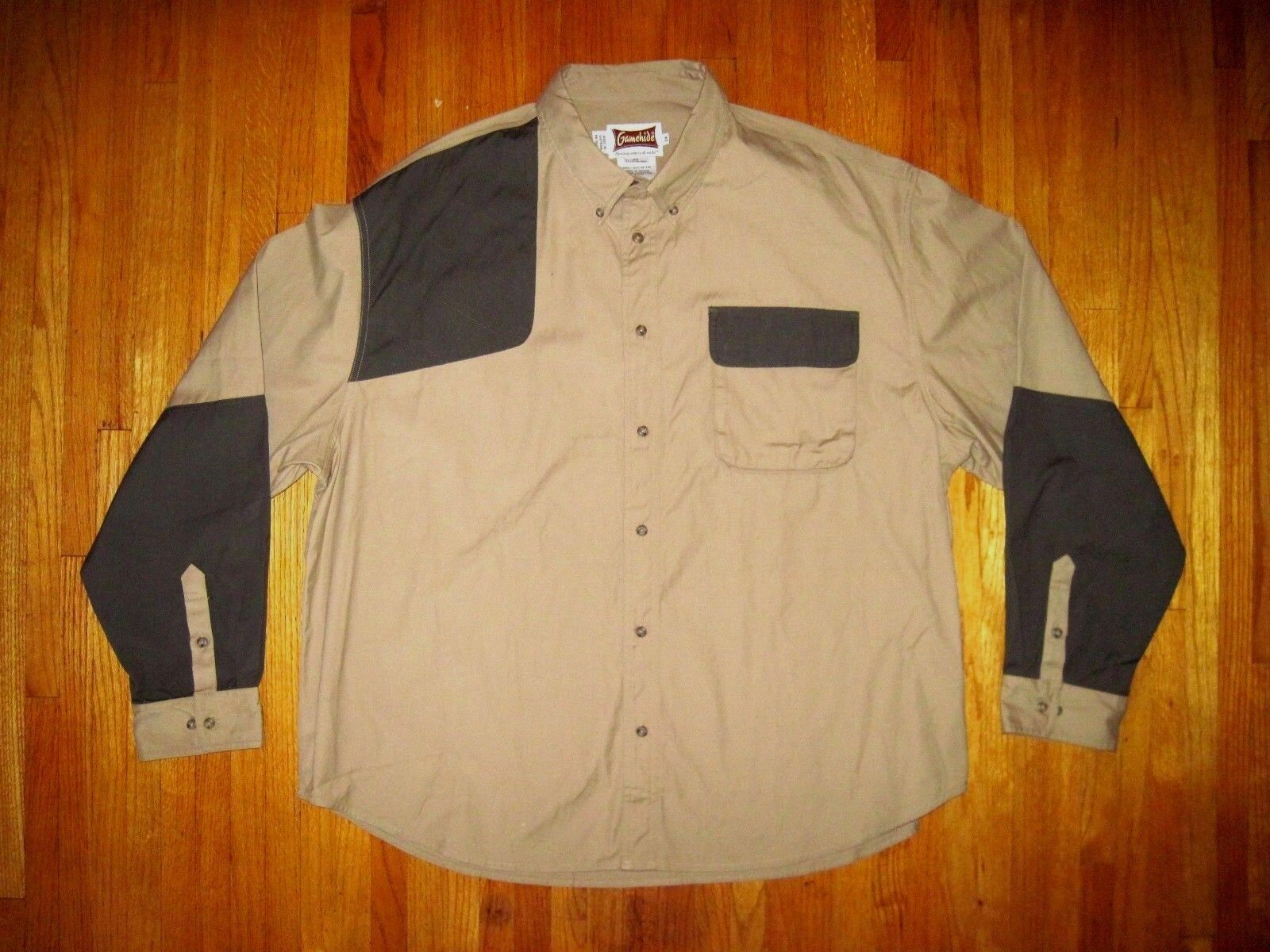 Men's Gamehide Uplander Long Sleeve Hunting Shirt Tan Charcoal  Size 3XL XXXL NWT  fast shipping