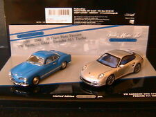 PORSCHE 911 997 TURBO 2010 + VW KARMANN GIA COUPE 1955 MINICHAMPS 402902010 1/43