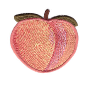 Peach-Fruit-Cartoon-Emoji-Booty-Punk-Jacket-Decorative-Girl-Patch