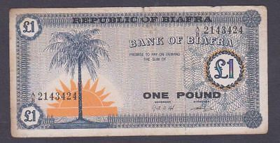 Coins & Paper Money Paper Money: World 1 Pound Pic#2 Dependable Performance Biafra Banknote