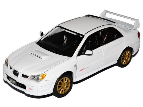 Subaru impreza Wrx Sti Weiss Limousine 2007 1//24 Motormax Motor Max Modellauto M