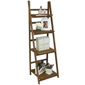 Image Is Loading Rustic Ladder Shelf Unit Vintage Standing Plant Book