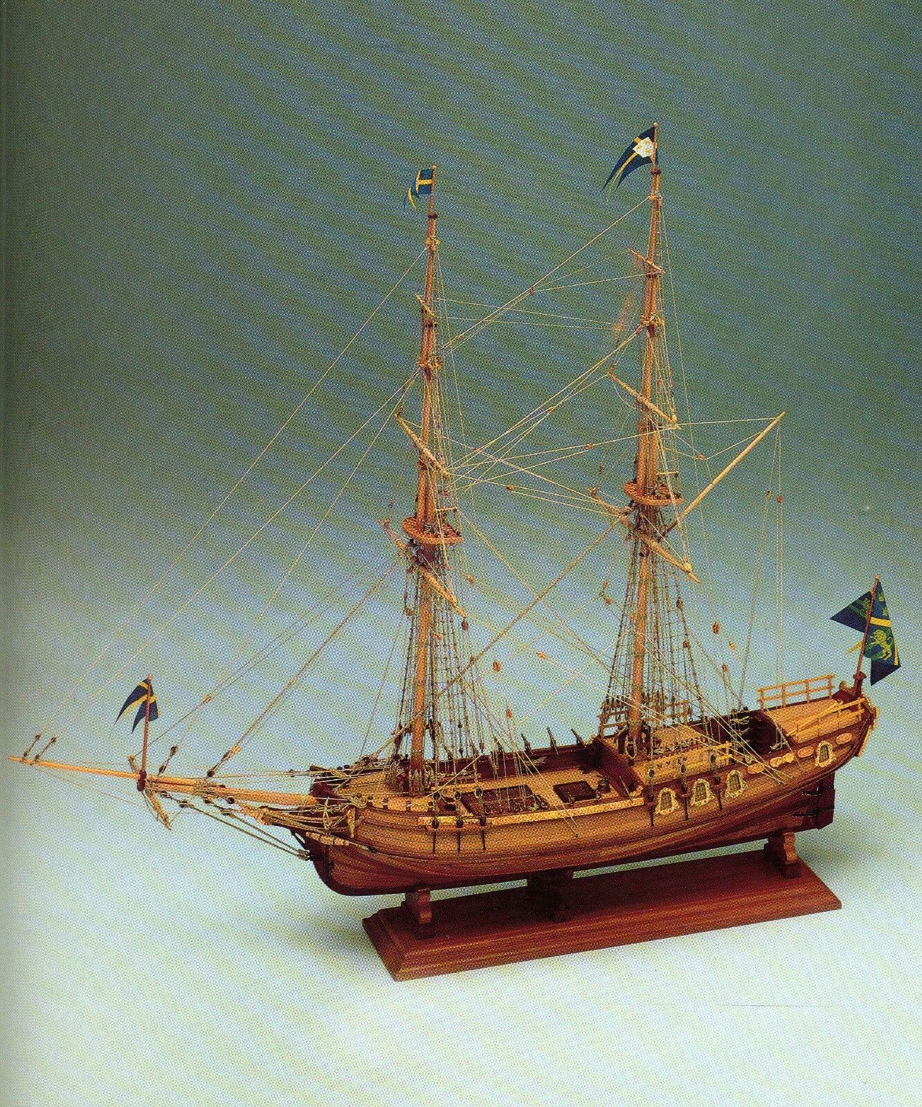 COREL SM20 BARCA Modello imbarcazione Nave AMPHION YACHT armato svedese 1 40
