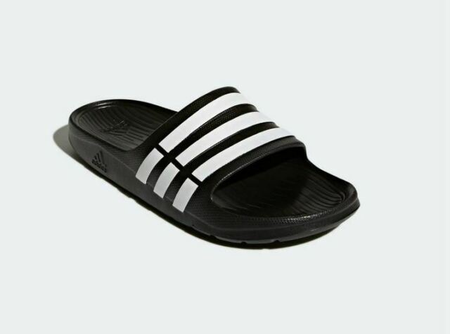 Perdido Confesión cocaína  Adidas Mens 18 Duramo Slides G15890 (Core Black / Cloud White / Core Black)  for sale online