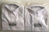 2 Cintas Women's White Uniform 2 Pocket Long Sleeve Shirts Size 16 Make Offer