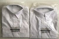2 Cintas Women's White Uniform 2 Pocket Long Sleeve Shirts Size 10 Make Offer