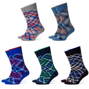Burlington-Men-039-s-Socks-Cadogan-Diamond-Pattern-Labeling-Clip-One-Size-40-46