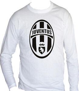 Fm10 T Shirt Manica Lunga Unisex Juventus Logo Scudetto Juve Calcio