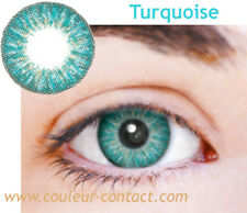 SALE: LENTILLES DE COULEUR TURQUOISE COLORED LENS VERRE CONTACT SMALL PUPIL DARK