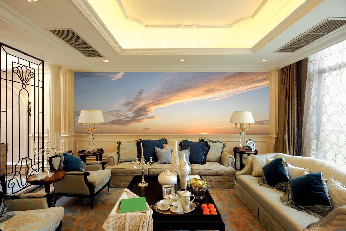3D 3D 3D Pretty Sunset Glow 3 Wall Paper Wall Print Decal Wall Deco Wall Indoor Murals d35b7d
