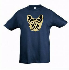 French-Bulldog-Face-on-Kids-Dog-Themed-Tshirt-Childrens-Tee-Shirt-Xmas-Gift