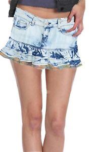 Damenmode Humorvoll Girls Women's 6 8 10 New Denim Short Mini Skirt Ex Store Bnwt Ladies