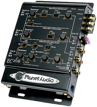 NEW Planet 3-Way electronic crossover with remote woofer level control EC20B