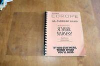 Al Jarreau / TOUR ITINERARY / European Tour 1986