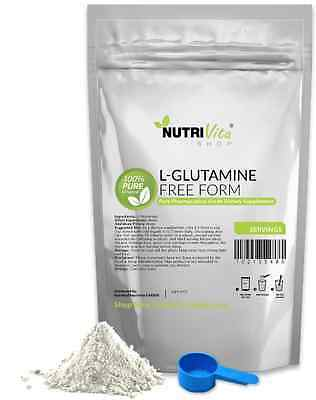 8.8oz (250g) NEW 100% L-GLUTAMINE FREE FORM KOSHER PHARMACEUTICAL GRADE