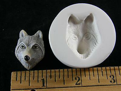 Wolf Face Polymer Clay Mold #MD1120