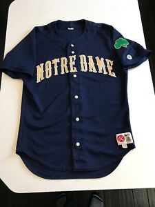 quality design b346a eda4d Details about VINTAGE RARE MADE IN USA 80's RAWLINGS NOTRE DAME BASEBALL  JERSEY IN SIZE 44