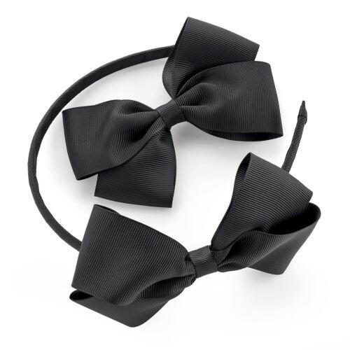 Nouvelle robe deux pièces gros-grain nœud ruban pince à cheveux serre-tête noeud accessoires