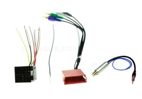 AMP WIRE HARNESS STEREO RADIO HEADUNIT ANTENNA ADAPTER 70-1787 FOR AUDI VW