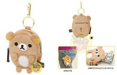 Rilakkuma Plush Cell Phone Pouch with Carabiner San-X