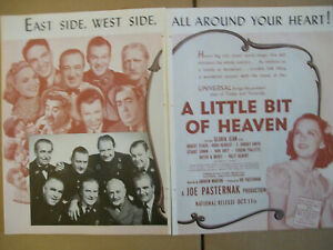 Details about Gloria Jean A Little Bit Of Heaven 1940 Ad- 2 page ad/Robert  Stack Billy Gilbert