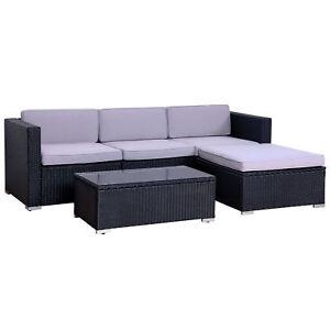 Evre Outdoor Quatre Personne En Rotin Meubles De Jardin Ensemble Modulaire Set Patio Sofa-afficher Le Titre D'origine