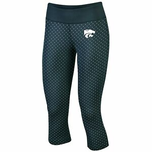 Kansas-State-Wildcats-Leggings-Capri-Womens-XS-S-Metallic-27-x-20-Actual-KSU-Gym