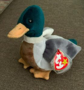 8c16c45ac00 Image is loading TY-Beanie-Baby-JAKE-THE-DRAKE-Mallard-Duck-
