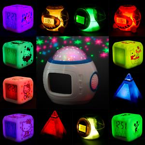 LED Kinderwecker Cube und Sternenhimmelw<wbr/>ecker Viele verschiedene Angebote