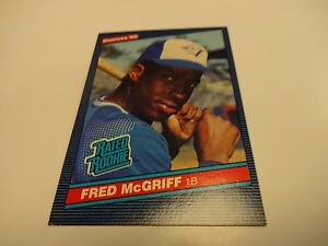 Details About 1986 Donruss Fred Mcgriff Toronto Blue Jays Rookie Card 28
