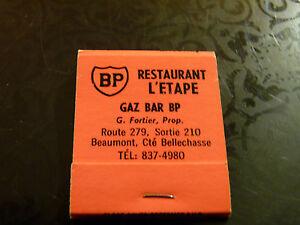 Rare-Vintage-Match-Book-BP-Restaurant-L-039-Etape-Gaz-Bar-Beaumont-G-Fortier-Prop