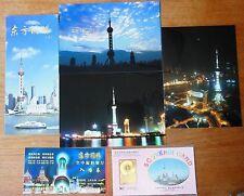 Oriental Pearl Tower Souvenir Card Stamp 3 Photos in Kodak Paper Shanghai China