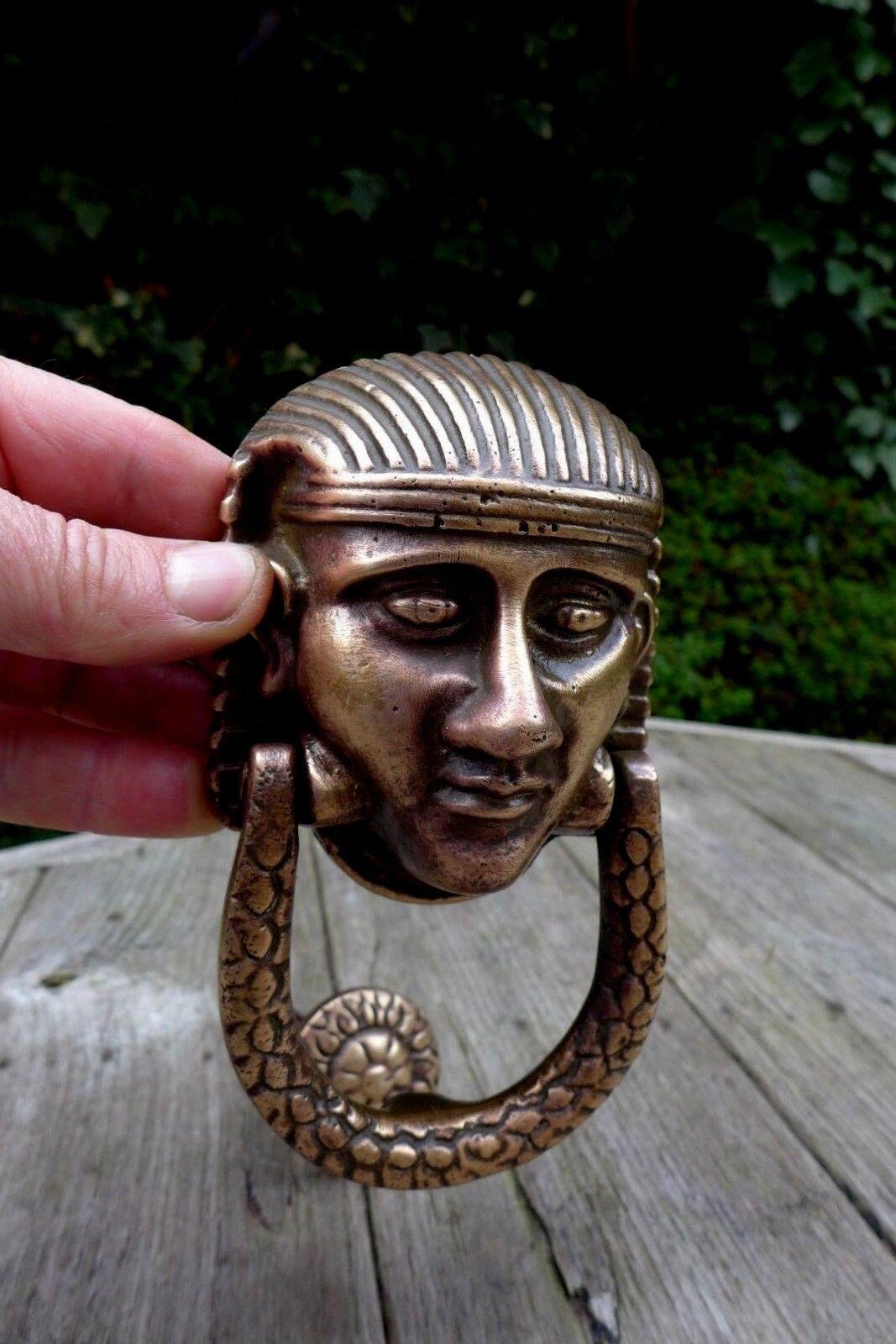 Antique Vintage brass bronze lot de heurtoir pharaon égyptien du projet projet du de conception 491971